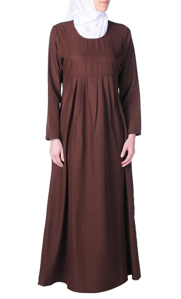 A Line Basic Casual Everyday Abaya Dress