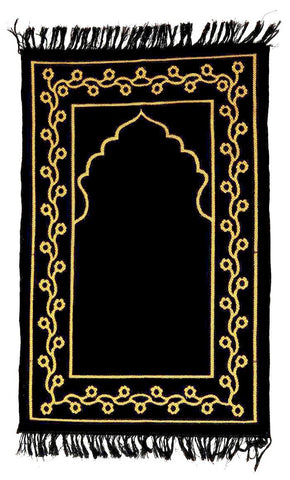 Basic black Janamaz-Rug
