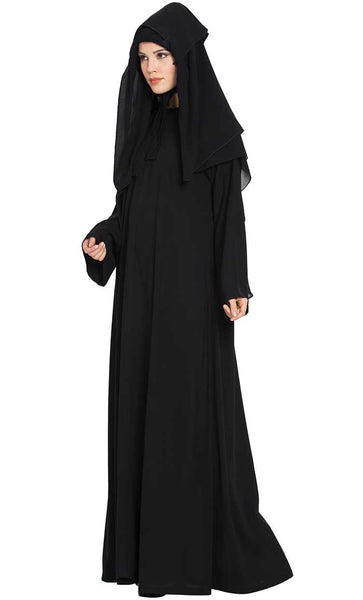 3 Piece-Burqa Set-Black-Final sale