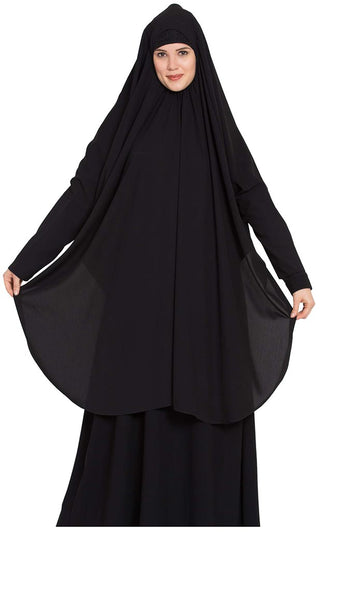 Khimar-Long Prayer Hijab-Black-Final sale
