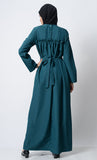 Classic Everyday Wear Abaya-Teal