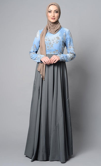 Long and Flowy Abaya Dress