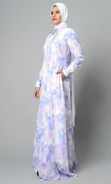 Mild Colored Soothing Abaya Dress