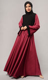 Fully flared nida abaya