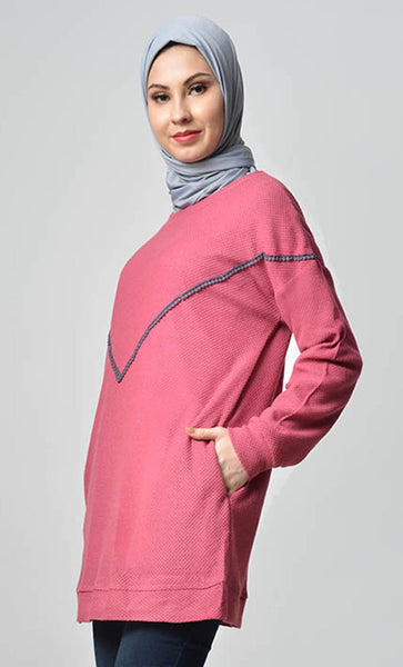 Its Winter Here Sweater - Pink