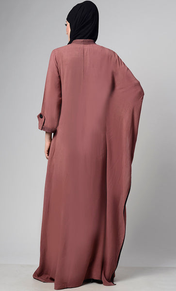 Root Beu Cascade  Free Style Abaya With Single Side Pocket