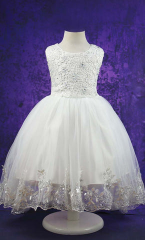 Adorable Princess Girl's Dress (White)-*Special Sizing*