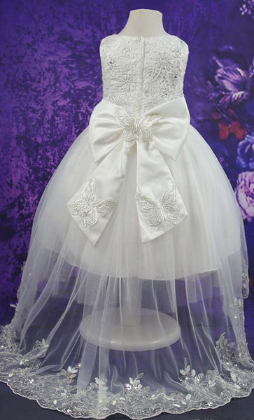 Adorable Princess Girl's Dress (White)-*Size Up*