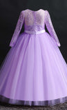 Beautiful Princess Girl's Dress (Purple)-*Size Up*