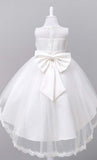 Adorable Floral Detailed Girl's Dress (White)-*Size Up*