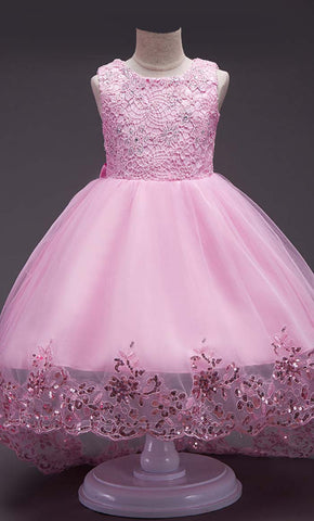 Adorable Princess Girl's Dress (Pink)-*Special Sizing*