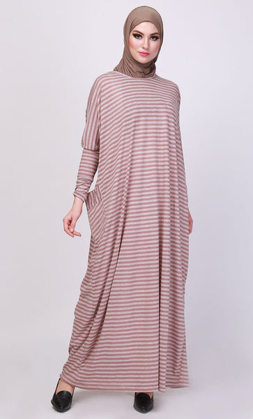 Tawny Striped Kaftan-Final sale