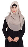 Ready to Wear- Instant Hijab Light Beige - Final Sale