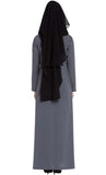 Naqab-Mouth Piece Hijab Hijab in Three Layers For ay Burqa Black - Final Sale