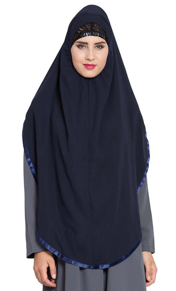 Ready to Wear- Instant Hijab Navy Blue - Final Sale