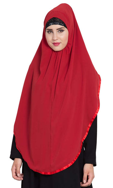 Ready to Wear- Instant Hijab Red - Final Sale