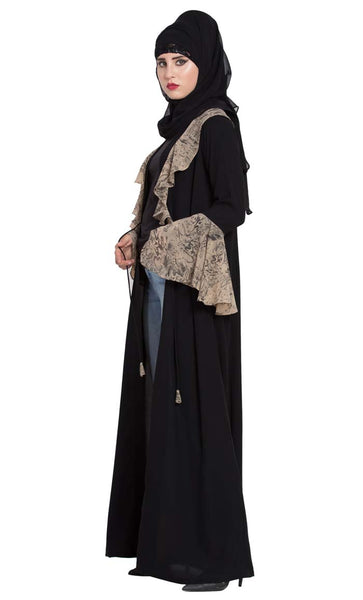 Cardigan For Abaya With Snake Print-Final Sale