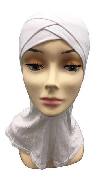 Set Of 10 Basic Crisscross Pattern Women'S Hijab Caps
