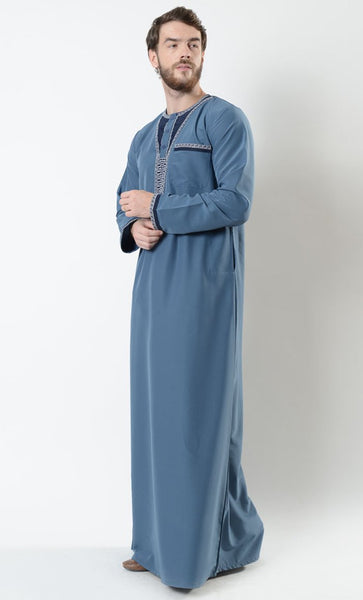 Mounir Men's Moroccan Embroidered Thobe