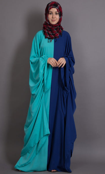 Contrast one piece Casual Abaya dress-Final sale
