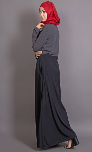 Contrast body Everyday Abaya-Final sale