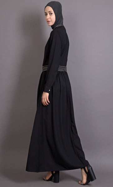 Embellished Evening Wear Muslimah Abaya Dress