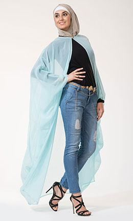Stylish Georgette Cape Shrug-Final Sale
