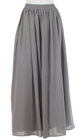 Basic Grey Georgette Skirt