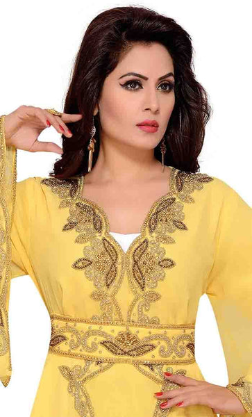 Women's Moroccan style Kaftan Bell sleeve with waist belt-Final sale