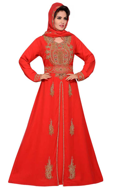 Women's Long Sleeve Chiffon Maxi Dress party Gown Evening islamic Dress-final sale