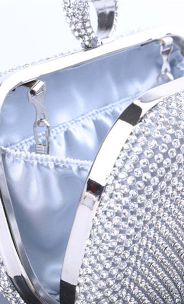 All That Crystal Clutch - Silver - EastEssence.com