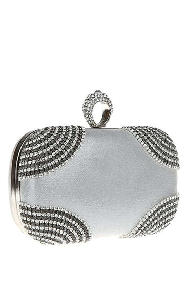 All The Hype Clutch - Silver - EastEssence.com