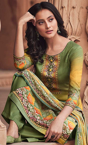 Allover Contrast Digital Print Comfort Everyday Modest Salwar Kameez Set - Final Sale - EastEssence.com