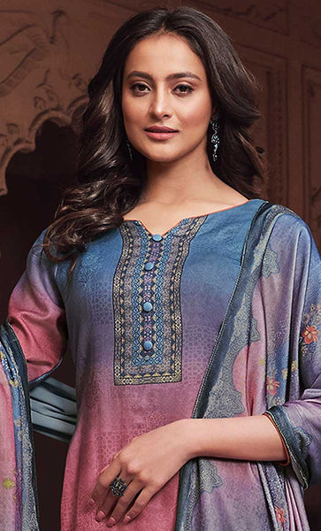 Allover Digital Print Comfort Everyday Modest Salwar Kameez Set - Final Sale - EastEssence.com