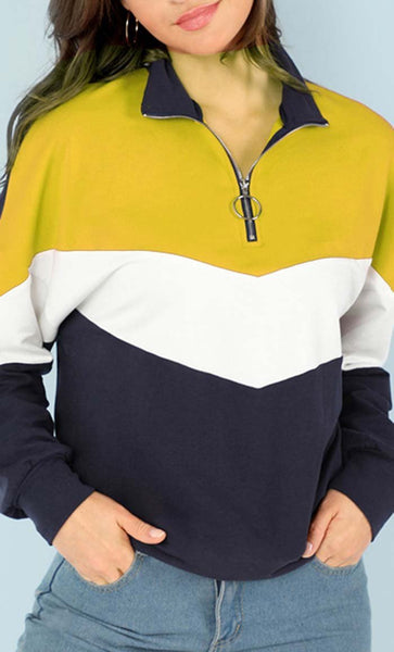 Always Stylish Solid Hoodie - Yellow - *Size Up* - EastEssence.com