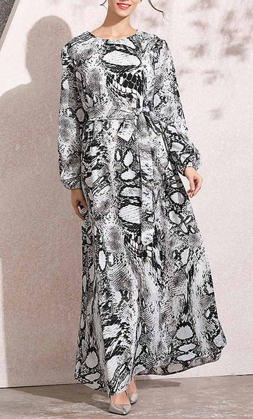 Animal Printed Abaya (Serpentine) - *Size Up* - EastEssence.com