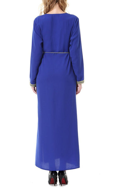 Asymmetrical Casual Wear Abaya Drress - EastEssence.com
