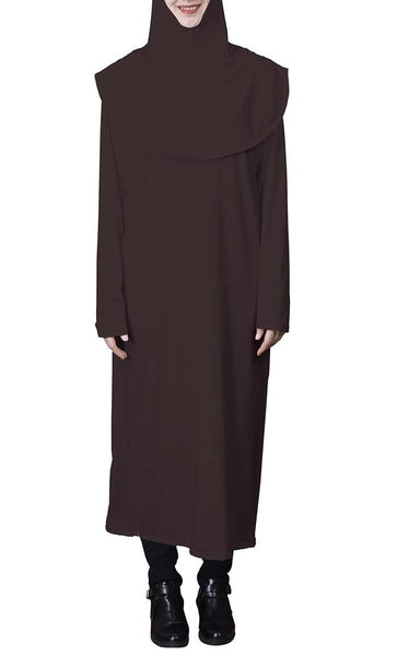 Basic 2pcs Abaya and Hijab Set - *Size Up* - EastEssence.com
