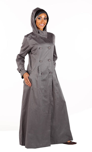 Basic and casual wear hoodie jacket style abaya dress - EastEssence.com