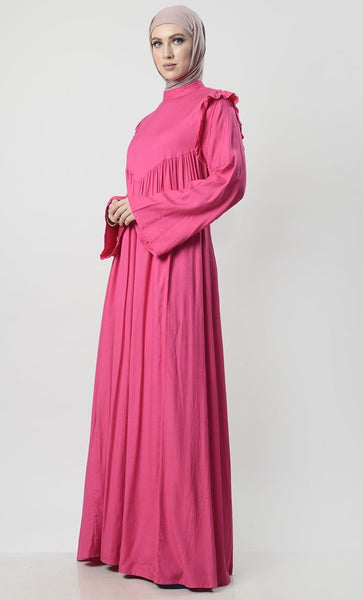 Basic Brunch Abaya With Pockets - EastEssence.com