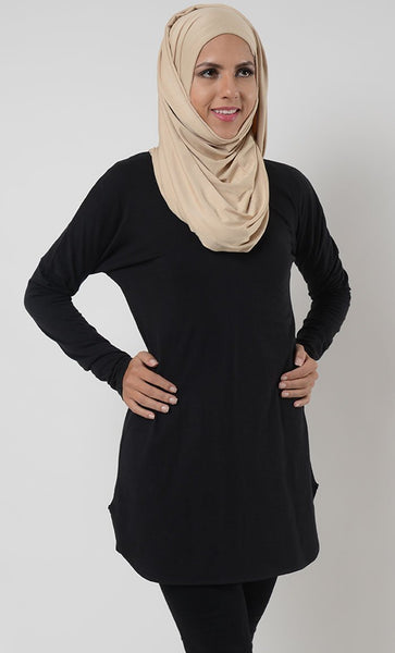 Basic Cotton Jersey Uniform Tunic - EastEssence.com