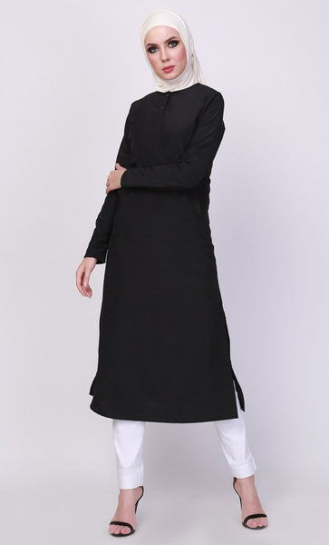 Basic Everyday Wear Long Tunic - EastEssence.com