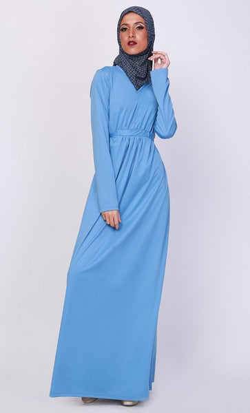 Basic Everyday Wear Muslimah Abaya Dress - EastEssence.com