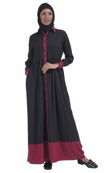 Basic Front Open Jilbab Dress - EastEssence.com