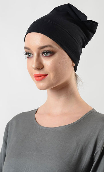 Basic Poly Knitted Hijab Cap - EastEssence.com