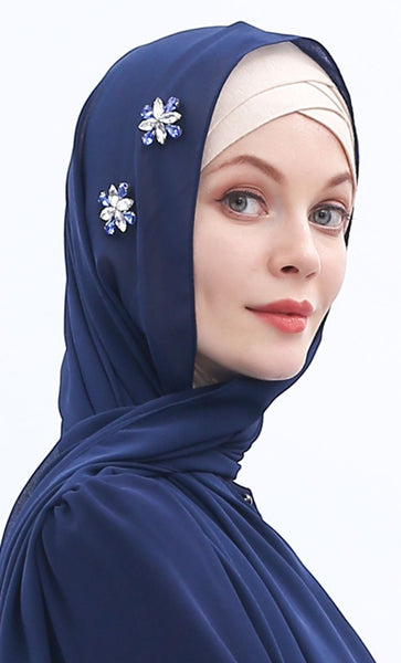 Basis Everyday Chiffon Hijab-Royal Blue - EastEssence.com