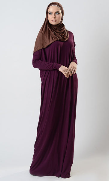 Batwing Sleeves Kaftan Style Abaya Dress - EastEssence.com