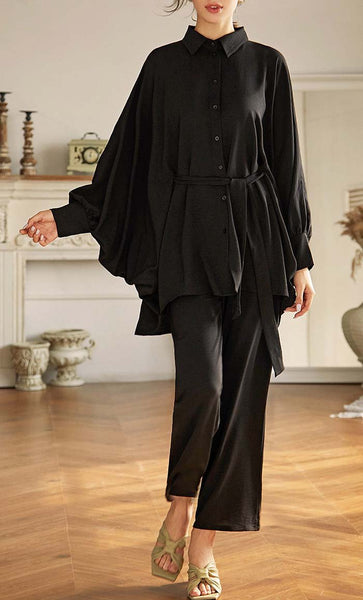Batwing Solid Work Tunic - *Size Up* - EastEssence.com