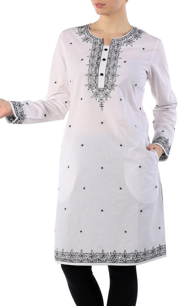 Beautiful Cotton Embroidered Spring Tunic - EastEssence.com