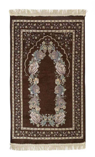 Beautiful Prayer Rug- Dark Grey - EastEssence.com